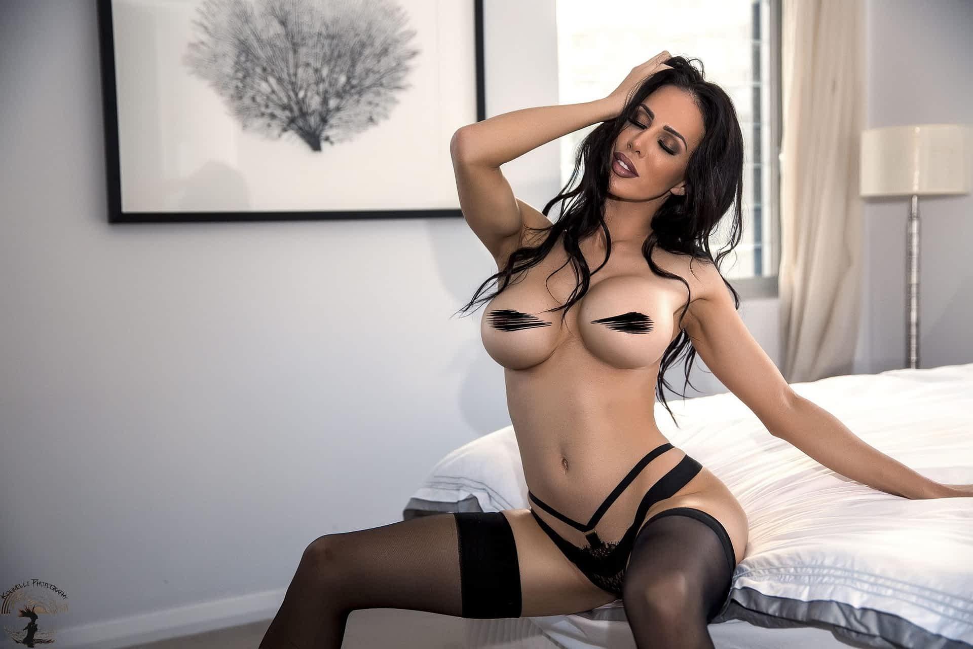 Sydney Topless Waitresses Black Lingerie